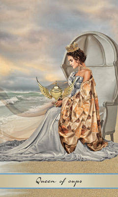 Card Meaning Of Queen Of Cups Lotus Tarot