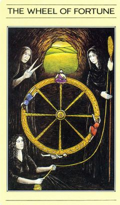 Card Meaning Of Wheel Of Fortune Lotus Tarot
